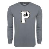 Charcoal Long Sleeve T Shirt-P