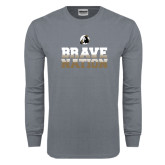 Charcoal Long Sleeve T Shirt-Brave Nation