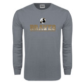 Charcoal Long Sleeve T Shirt-Braves Stacked