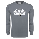 Charcoal Long Sleeve T Shirt-Peach Belt Champions