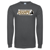 Charcoal Long Sleeve T Shirt-2017 Peach Belt Conference Mens Outdoor Track and Field