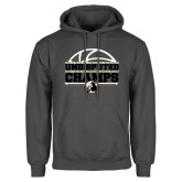 Charcoal Fleece Hoodie-Peach Belt Undisputed Basketball Champs