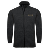 Black Heather Fleece Jacket-UNC Pembroke