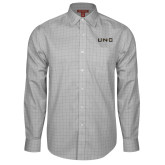 Red House Grey Plaid Long Sleeve Shirt-UNC Pembroke