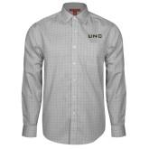 Red House Grey Plaid Long Sleeve Shirt-UNC Pembroke