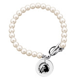 Olivia Sorelle Silver Round Pendant Pearl Bracelet-Primary Mark Engraved