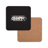 Hardboard Coaster w/Cork Backing-2017 Peach Belt Conference Mens Outdoor Track and Field