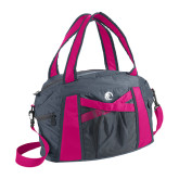 Graphite/Pink Duffel Bag-Primary Mark