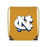 Gold Drawstring Backpack-NC Interlocking