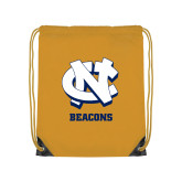 Gold Drawstring Backpack-CN Beacons