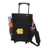 30 Can Black Rolling Cooler Bag-NC Interlocking