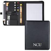 Carbon Fiber Tech Padfolio-NCU Logo