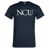 Navy T Shirt-NCU Logo
