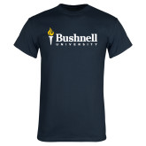 Navy T Shirt-Bushnell University Primary Mark