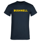 Navy T Shirt-Bushnell Athletics Wordmark