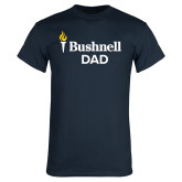 Navy T Shirt-Bushnell University Dad