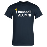 Navy T Shirt-Bushnell University Alumni