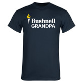 Navy T Shirt-Bushnell University Grandpa