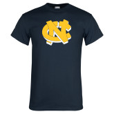 Navy T Shirt-NC Interlocking