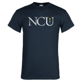 Navy T Shirt-NCU Distressed