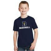 Youth Navy T Shirt-Bushnell Athletic Mark