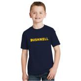 Youth Navy T Shirt-Bushnell Athletics Wordmark