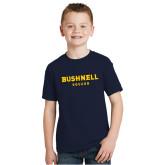Youth Navy T Shirt-Soccer