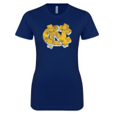 Next Level Ladies SoftStyle Junior Fitted Navy Tee-Official Artwork Distressed 2