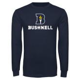 Navy Long Sleeve T Shirt-Bushnell Athletic Mark