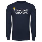 Navy Long Sleeve T Shirt-Bushnell University Grandpa