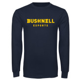 Navy Long Sleeve T Shirt-ESports