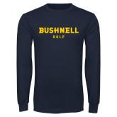 Navy Long Sleeve T Shirt-Golf