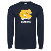 Navy Long Sleeve T Shirt-CN Beacons