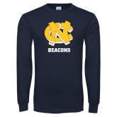 Navy Long Sleeve T Shirt-CN Beacons