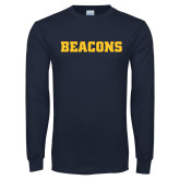 Navy Long Sleeve T Shirt-Beacons