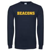 Navy Long Sleeve T Shirt-Beacons