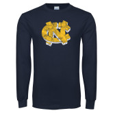 Navy Long Sleeve T Shirt-Official Artwork Distressed 2