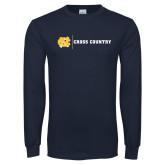 Navy Long Sleeve T Shirt-Cross Country