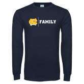 Navy Long Sleeve T Shirt-Family