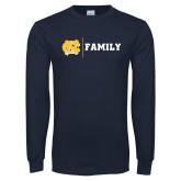 Navy Long Sleeve T Shirt-Family