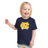 Toddler Navy T Shirt-NC Interlocking
