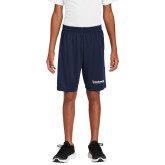 Youth Navy Competitor Shorts-Bushnell University Primary Mark
