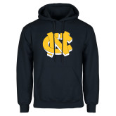 Navy Fleece Hoodie-NC Interlocking