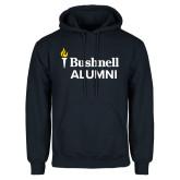 Navy Fleece Hoodie-Bushnell University Alumni