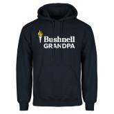 Navy Fleece Hoodie-Bushnell University Grandpa