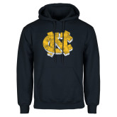 Navy Fleece Hoodie-Official Artwork Distressed 2