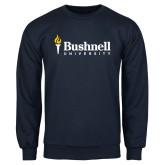 Navy Fleece Crew-Bushnell University Primary Mark