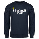 Navy Fleece Crew-Bushnell University Dad
