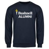 Navy Fleece Crew-Bushnell University Alumni