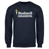 Navy Fleece Crew-Bushnell University Grandpa
